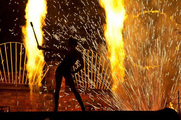 Propangas-Flammenprojektoren